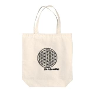 フラワーオブライフ Tote bags