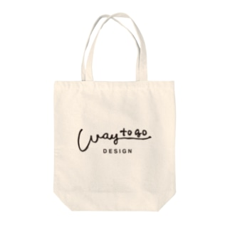 way to go design ロゴ・クロ Tote bags