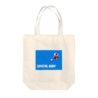 クリスタルベイビー Tote bags