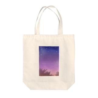 夜明け前 Tote bags