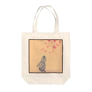真っ黒うさぎのアイ愛の歌 Tote bags