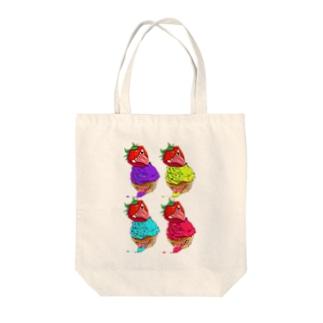 キラーカップケーキ(4色) Tote bags