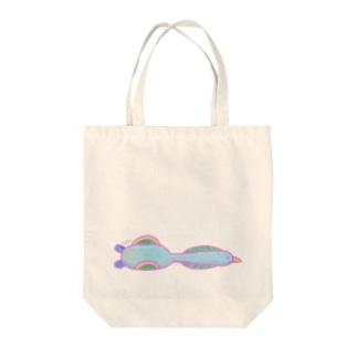 低めを飛ぶ長い鳥 -HirocoIchinose- Tote bags