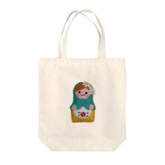 マトリョーシカ Tote bags