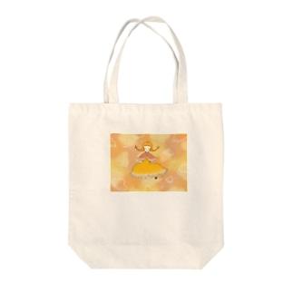 夕暮れとおさげちゃん Tote bags