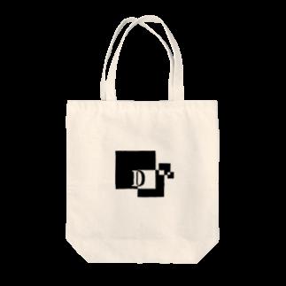 シンプルデザインアルファベットD トートバッグ