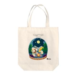 Yeti&Dog CAMPFIRE(夜) Tote bags