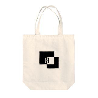 シンプルデザイン:Tシャツ・パーカー・スマートフォンケース・トートバッグ・マグカップのシンプルデザインアルファベットHトートバッグ