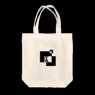 シンプルデザインアルファベットK トートバッグ
