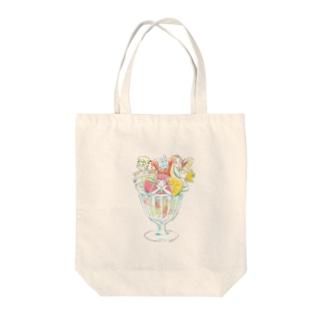 フルーツパフェ Tote bags