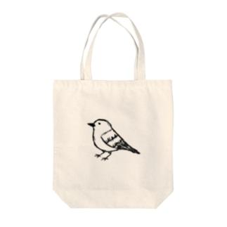 とりちゃんぽつん Tote bags
