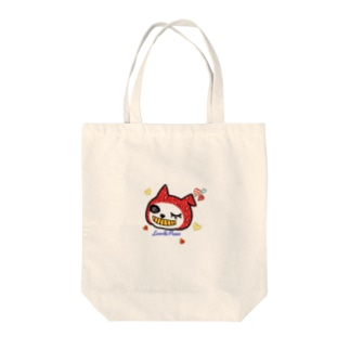LovePeaceねこかぶりちゃん Tote bags