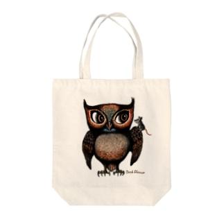 """Dark blanco """"Owl"""" Tote bags"""