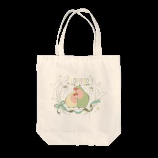 インコグッズ屋の粟の穂とペアコザクラインコ Tote bags