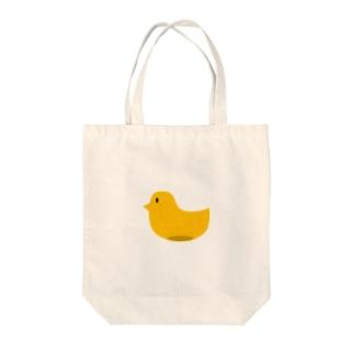 シンプルにひよこ Tote bags