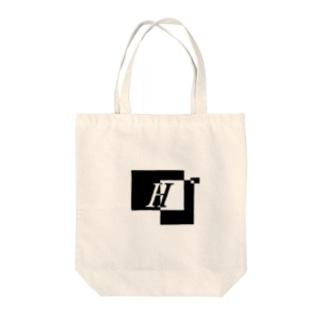 シンプルデザインアルファベットH Tote bags