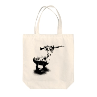 cassowary(ロゴなしモノクロロボットのみ) Tote bags