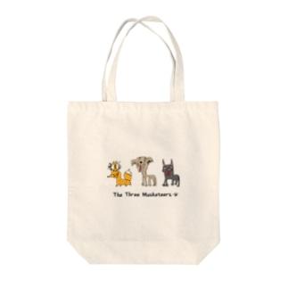 バケモノ三銃士 Tote bags