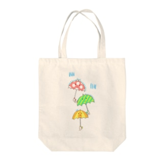 濡れたくない濡れたくない濡れたくない Tote bags