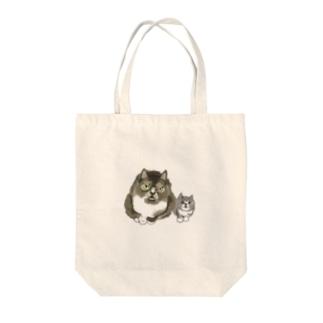 よろしく猫親子 Tote bags