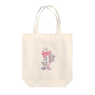 イルカのブッチくん(イラスト:寺田てら) Tote bags