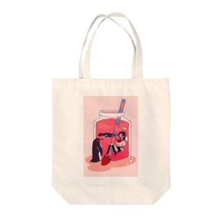 いちご味のラブレター Tote bags