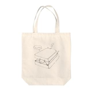 パンに挟まるムササビ Tote bags