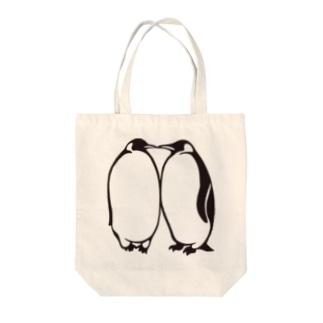 いちゃこらエンペラー(ポジ・黒いver.) Tote bags