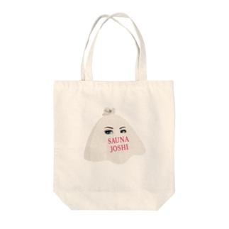 Saunajoshiあにめ Tote bags