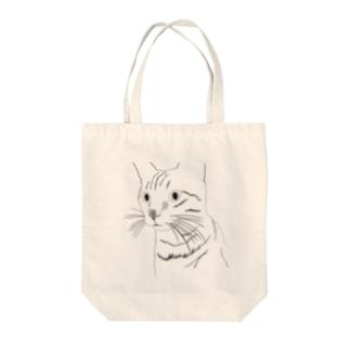 何か見つけたネコ Tote bags