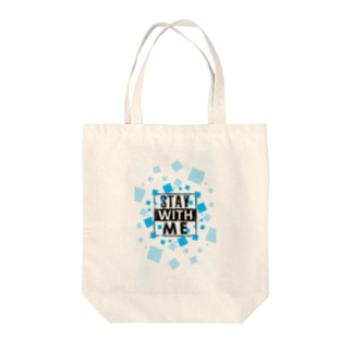 STAY WITH ME Tote bags