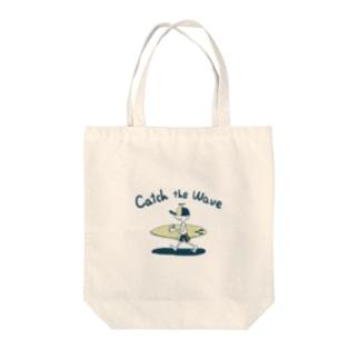 長里徹應のCatch the wave Tote Bag