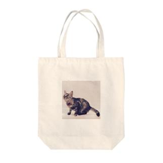 ネコのむぎ Tote bags