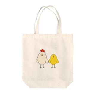とり親子 Tote bags