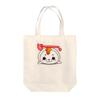 モヒカンアザラシ Tote bags
