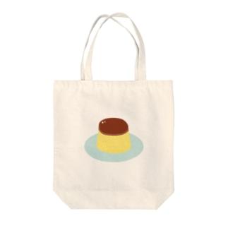 プリン Tote bags