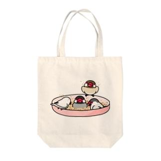 なかよし文鳥【まめるりはことり】 Tote bags