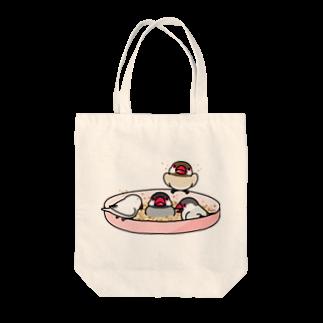 まめるりはことりのなかよし文鳥【まめるりはことり】 Tote bags