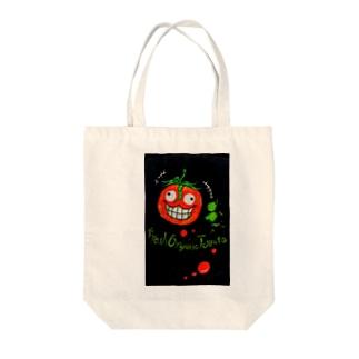 ぼくが考えたトマトジュース Tote bags