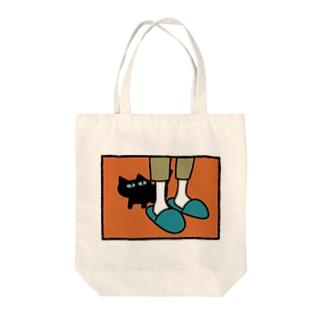くろねこレグとかいぬしさん Tote bags