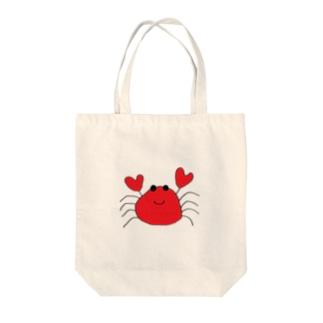 カニまる Tote bags
