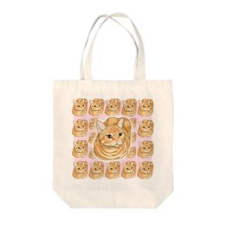 にゃんだら Tote bags