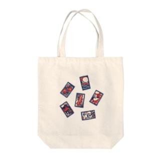 【日本レトロ#30】花札 Tote bags
