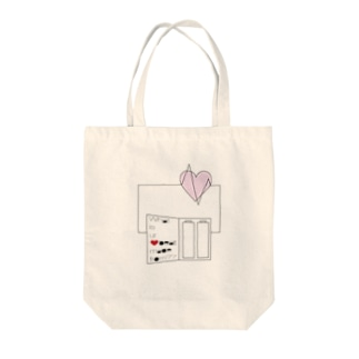Heartbeat  Tote bags