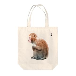 墨絵のニホンザル Tote bags