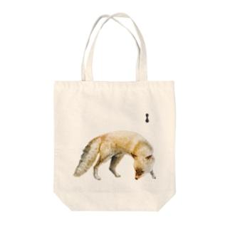 墨絵のキタキツネ Tote bags