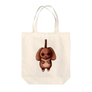 首吊りうさぎ Tote bags