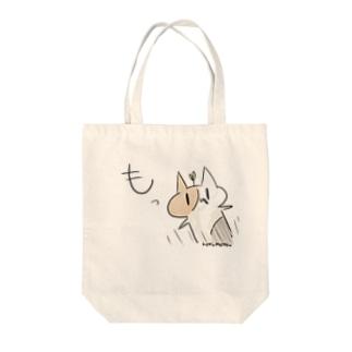 とびだすこくもつねこ Tote bags