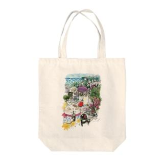 猫とペンギンと旅気分 Tote bags