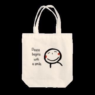 rurisapapa の微笑み Tote bags